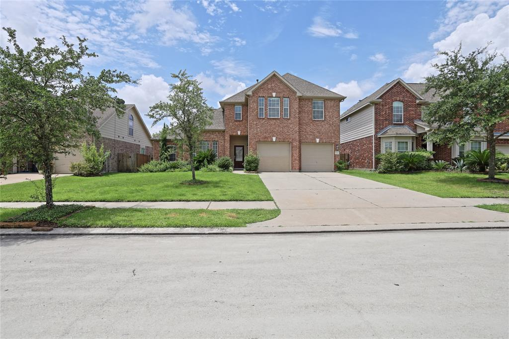 Don't settle for an average house-this home has so much to offer! 4+ beds, 3.5 baths, oversized 3 car garage with storage & backs to Kaufman Elementary-no homes behind. Zoned to excellent CISD. Upgraded kitchen with granite counter tops. Public main floor areas with engineered hardwoods including the master down & bonus flex room with walk in closet could be bed, study, nursery, or playroom. 3 secondary bedrooms up & 2 full baths. One is an en-suite bed/bath. Very large game room up too! Sprinkler system. Super convenient location to amenities & highways. Imperial Oaks Park 8, with access to playgrounds, dog park, tennis courts, and pools, including splash pad. Pets OK with non-refundable pet deposit. HOA dues and high efficiency washer and dryer included in rent.