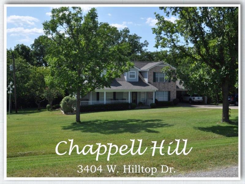 3404 W Hilltop Drive, Chappell Hill, TX 77426