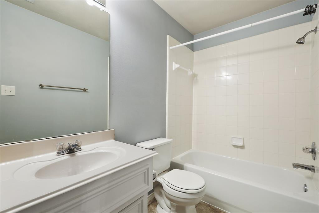 The downstairs guest suite includes a full bathroom.