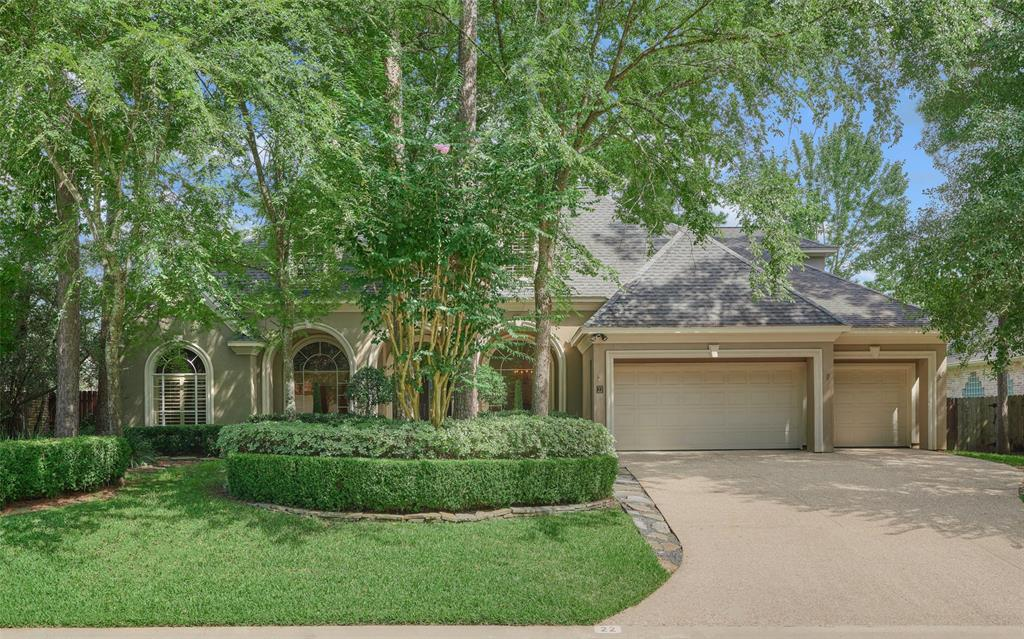 """FRESHLY PAINTED custom home in sought-after Silvershire neighborhood in mature, wooded, central Cochrans Crossing - minutes to restaurants/shops, entertainment, med district, and walk to top-ranked Galatas Elementary! Recently replaced HVAC units w/reworked returns & ducts, pool heater, cleaner & pump, and refinished wood floors! Timeless floor plan with two en-suite bedrooms down, white/bright kitchen w/apron sink, Sub-zero fridge, bar seating at island, fully paneled study, both formals, large game room up w/spacious secondary bedrooms w/full bath access! Double-pane wdws, smart built-ins, plantation shutters, & two incredible walk-in storage areas! Secluded master suite with sitting area + designer Venetian plaster in bath with cedar-lined ceilings in closets! Private backyard oasis ready for entertaining with covered patio, outdoor kitchen, fire pit, and multiple venues for leisure & fun! 16"""" sound barrier between floors & 3-car garage w/epoxy floor! Low tax rate! High & dry! MORE!"""