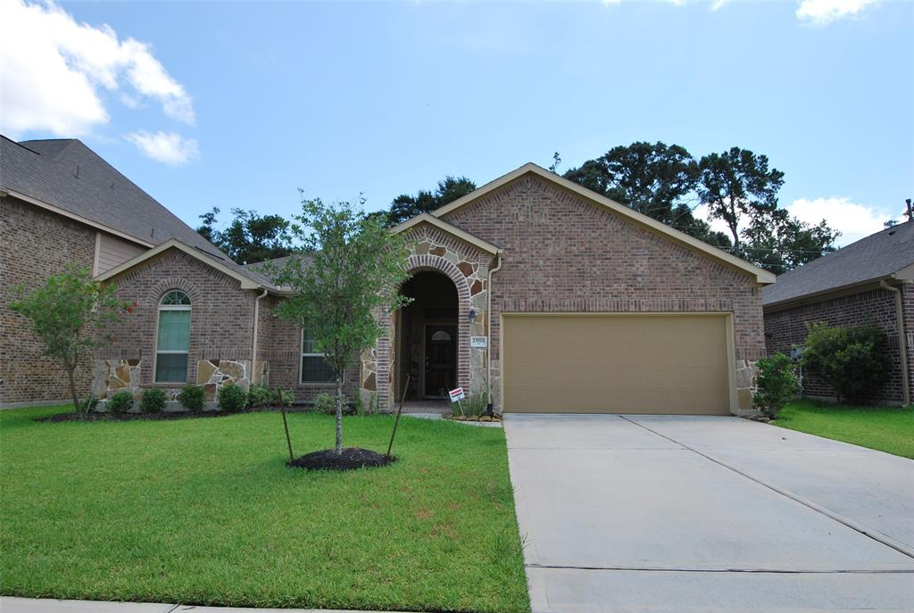 """Beautiful one story 4 bedroom and 3 full baths. Located in a quiet gated community.  Ryland Homes 60"""" lot Covington plan.  Back woods. Granite in kitchen with stainless steel appliances, gas cook top, built in microwave and oven.  Spacious master bedroom.  Lots of upgrades. Zoned to high ranked Klein ISD."""