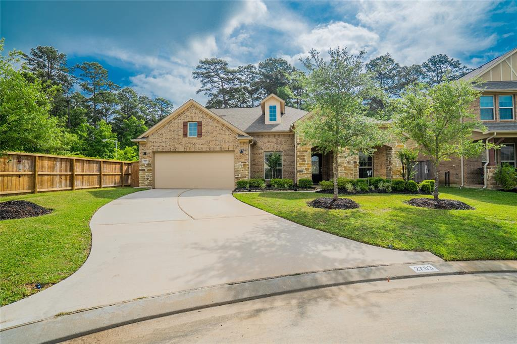 Available Sept 1st for move in. High and Dry from Harvey! Sophisticated and luxurious home now available in the highly acclaimed Graystone Hills community. This beautiful custom home is nestled on an amazing corner lot at the end of a cul-de-sac. No rear neighbors! Every detail for this dream home was carefully selected and quality crafted. Custom touches include top-of-the-line chef's kitchen with 42' cabinets with premium finishes, fixtures and stainless steel appliances, stunning wood floors in the study and dining rooms, upgraded carpet and tile floors, designer light fixtures, huge master suite with spa inspired bath, all bedrooms downstairs, full sprinkler system, pre-wired for surround sound both in the living room and upstairs game room, Tankless water heater, 15 SEER HVAC system, Energy Star 3.0 rated and so much more! Call to schedule your appointment today.