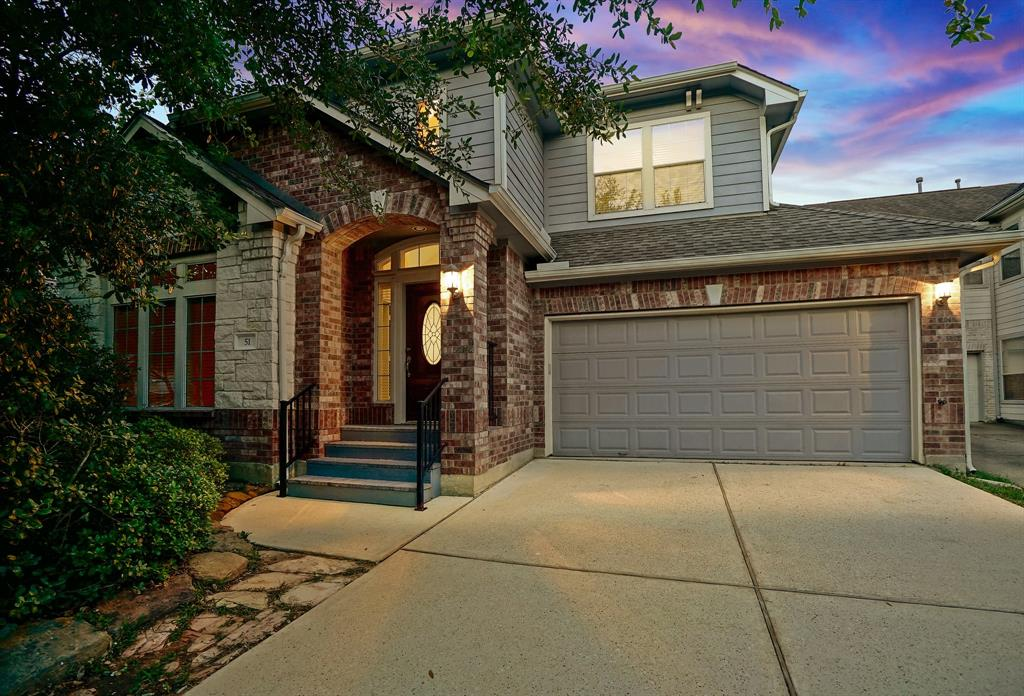 What a great location, just minutes from I-45 and Market Street! This gorgeous two story home for lease in Grogan's Forest features new paint, new flooring on 1st floor and new carpet upstairs! Roof replaced in 2015. Open floorplan with two story vaulted ceiling entry, island kitchen w/gas cooking and tile flooring (refrigerator, washer & dryer included) opens to breakfast room and den with fireplace. Study with built-ins & French doors; formal dining; Large master retreat down with separate shower and whirlpool tub. Game room and two guest bedrooms up; Spacious, fenced backyard features a covered patio & full sprinkler system.