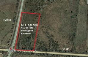 TBD Lot 1 CR 114, Garwood, TX, 77442