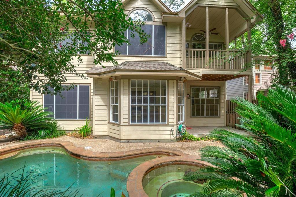 Location! Lovely home with a small but refreshing swimming pool. Rent with pool included is $2500 Beautiful hardwood floors and tile downstairs and carpet upstairs. Master bedroom located upstairs with a private balcony. This home includes, washer,dryer and refrigerator.  Access to Grand Parkway, 242 and I45 just min away!