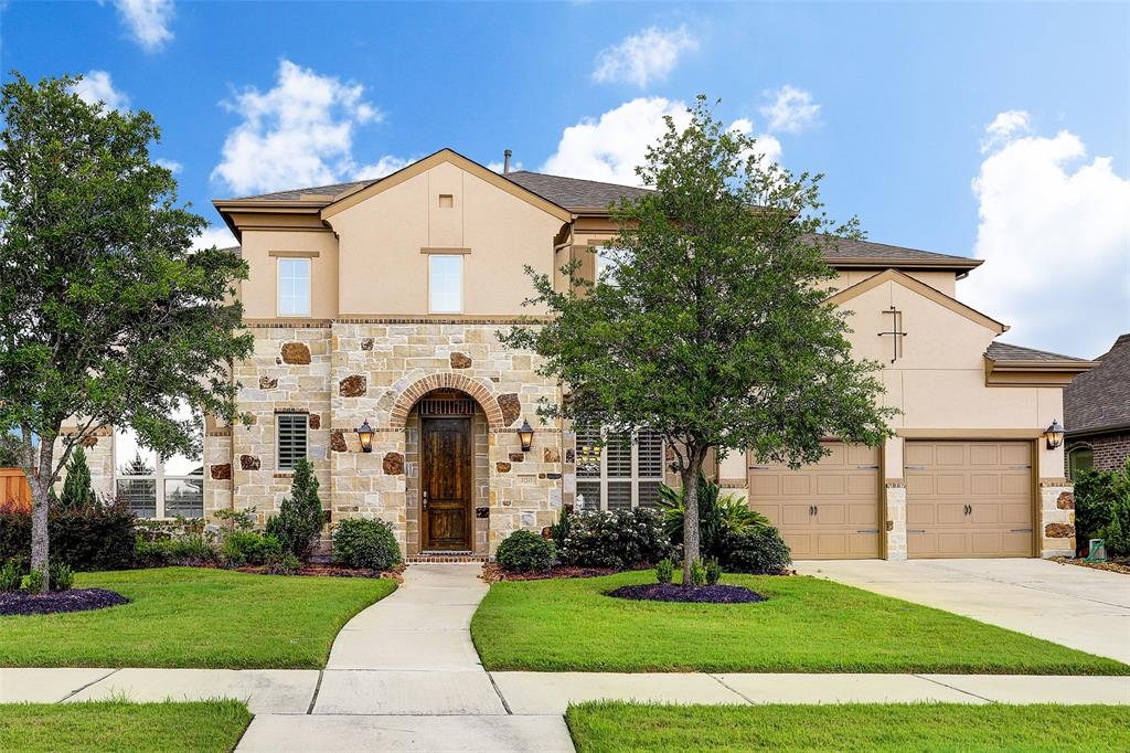 Gorgeous Aliana home situated on a 13,157 (FBCAD) sq. ft. lot.  This 4,048 (FBCAD) sq. ft. home features a gourmet island kitchen with stainless steel appliances including double convection ovens and a gas cook top.  The breakfast room, office nook and huge family room, with fireplace, overlook the large backyard.  Master bedroom and secondary bedroom are located on the first floor along with a formal dining and living room.  Two additional bedrooms with media room, game room and bonus room upstairs.  All information, per seller.