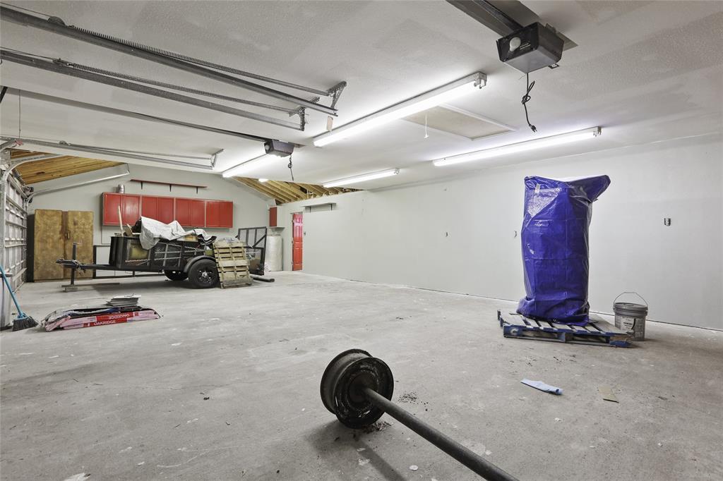 Inside of the 4 car garage.