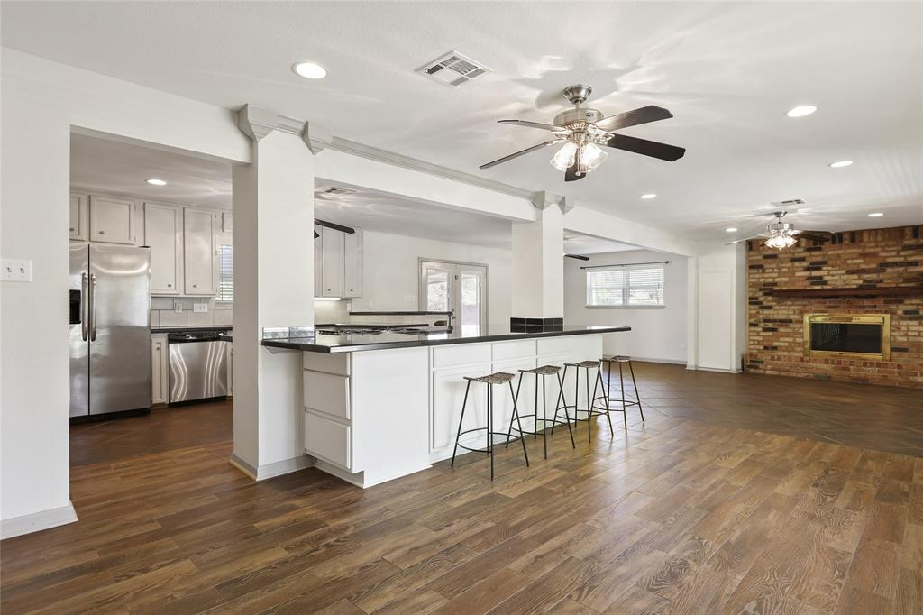 Recessed lighting includes throughout main living space and tons of windows that provide lots of natural light.
