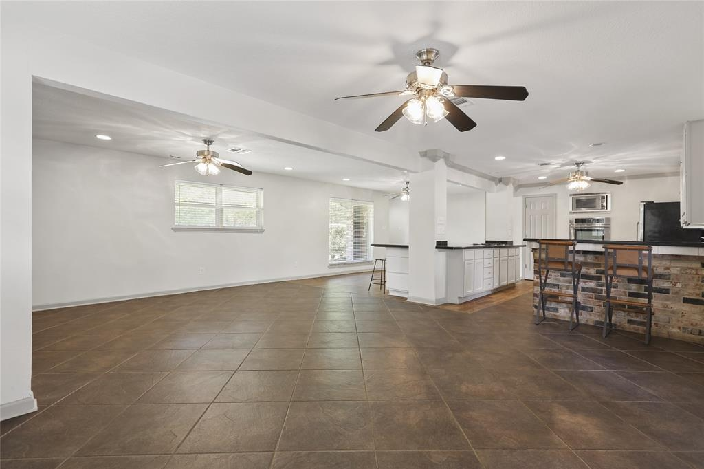Open concept living room provides lots of space for entertaining.