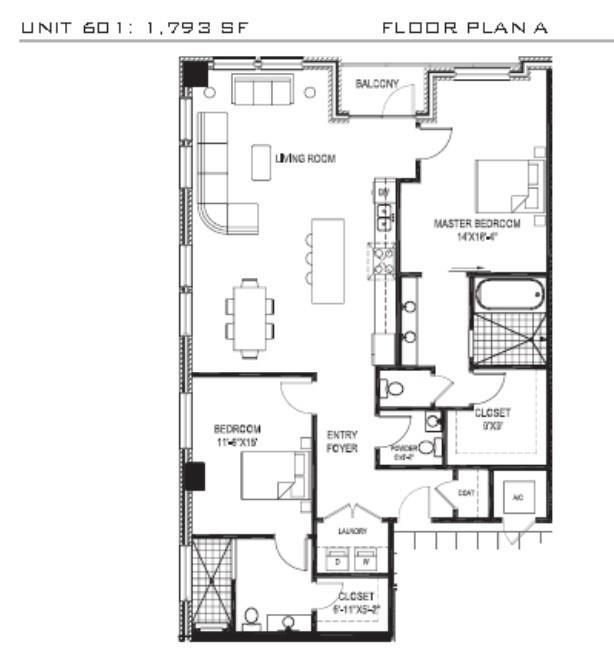 The original builder's floor plan.