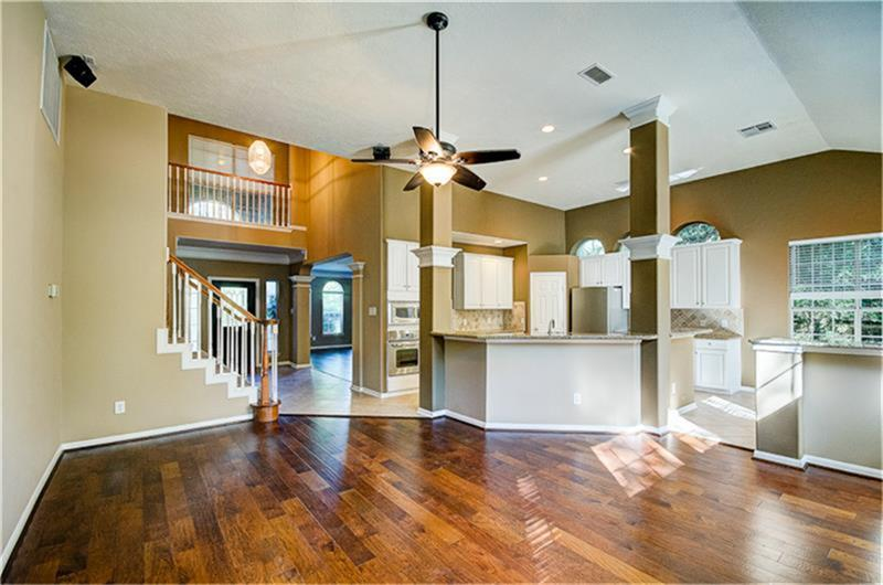 ***4 BEDROOMS***3.5 BATHS***REFRIGERATOR** HARDWOOD FLOORS**LEASE THIS ELEGANT CUSTOM HOME. MASTER SUITE AND STUDY DOWNSTAIRS. LARGE LIVING/DINING ROOM. THREE BEDROOMS UP. KITCHEN OPENS TO DEN WITH FIREPLACE. BEAUTIFUL BACKYARD. SPRINKLER SYSTEM, IDEAL LOCATION IN THE HEART OF THE WOODLANDS.  WOODED AREA. CONROE ISD SCHOOLS. CLOSE TO HWY 242 AND I-45.