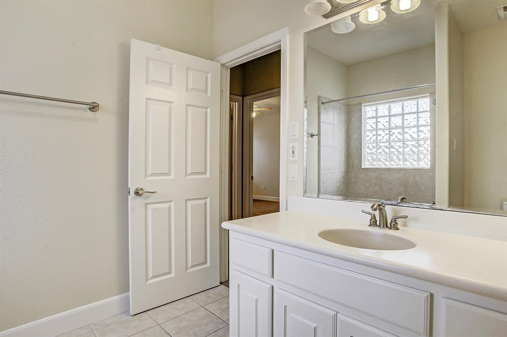 The hall bath is very well sized, with a combo tub/shower.