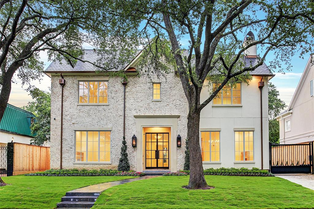 Stunning new construction in River Oaks by Overstreet Builders and designed by Rice Residential and Chandos Interiors. Gorgeous exterior with slurried brick and stucco, copper gutters, and a slate roof. The home has a gracious entry and features 5 bedrooms, 6 baths, 2 half baths, 4 car tandem garage, 2 living areas, study, mudroom, game room, and her office. Master suite includes his and her oversized closets, double sinks, separate tub, 2 showers, and private water closets. All bedrooms have en-suite bathrooms and walk-in closets. Additional features include a full home generator, elevator, water filtration system, Crestron home automation system, and much more! All info per seller.