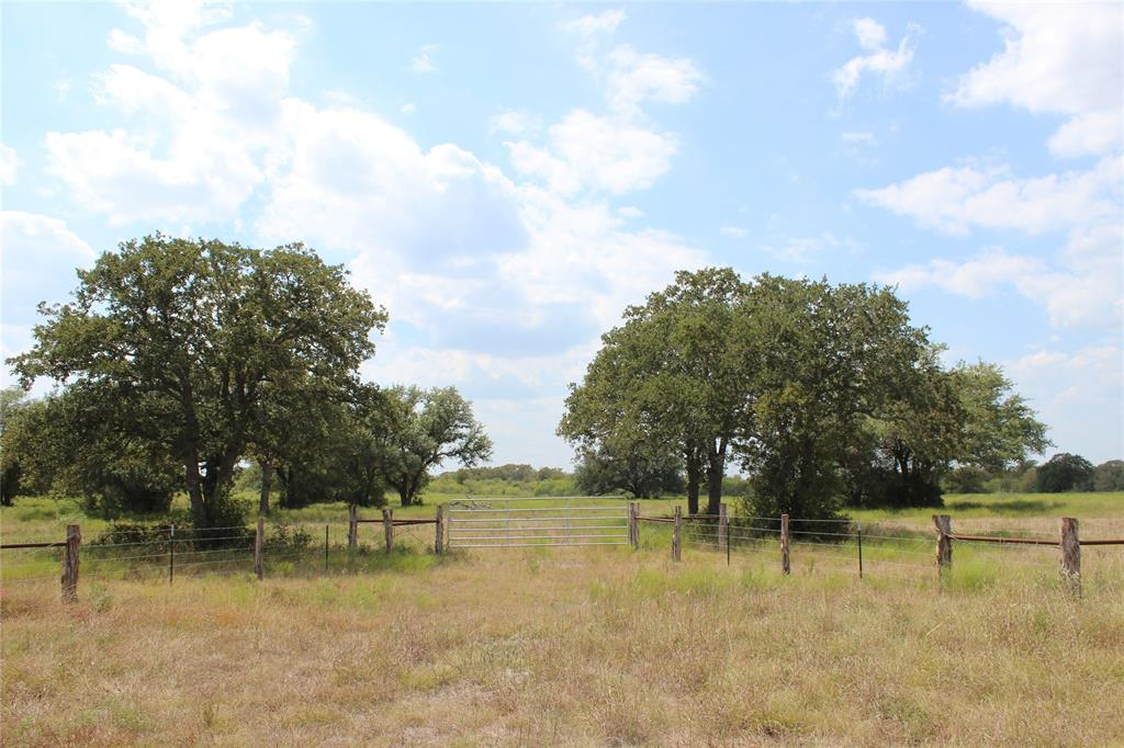 Beautiful property with large scattered Live Oak, Post Oak and other native trees and grasses with FM 2814 and County Road 516 frontage in an area of rolling heavily wooded hills. This place is located between Houston and San Antonio just Southeast of Waelder near the towns of Gonzales and Flatonia in Eastern Gonzales County. This tract is a restricted corner property that could make a nice building site or recreational property. Native wildlife in the area include Whitetail deer, turkey and feral hogs. The property has a good view of the surrounding country side. The terrain is fairly level and the property is completely fenced. The soils consist of sandy loam overlying a clay subsoil. The property has GVEC electric service available.