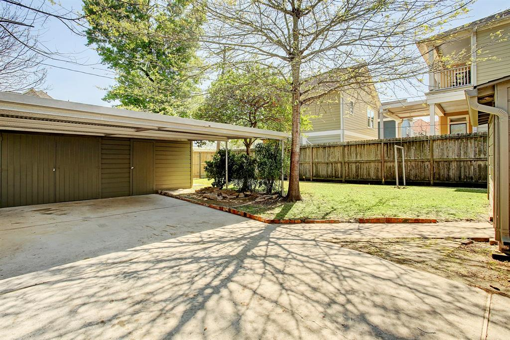 This home offers garage parking for one car, additional secure storage space, and a two car carport.