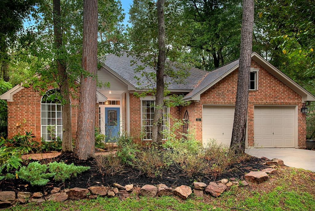 Beautiful one story home on a cul-de-sac street for lease in Panther Creek! Centrally located in the heart of The Woodlands and close to area parks, hike/bike trails, restaurants and shopping! Open concept, hardwood and tile floors, abundant windows and plenty of storage throughout. Spacious kitchen with stainless steel appliances (fridge included), granite counters and brick accent wall overlooks sunny breakfast room and den with cozy fireplace; both formals; four bedrooms; two full baths; private, fenced yard with patio, pool and spa surrounded by mature trees. Equal deposit; current credit report with scores required.