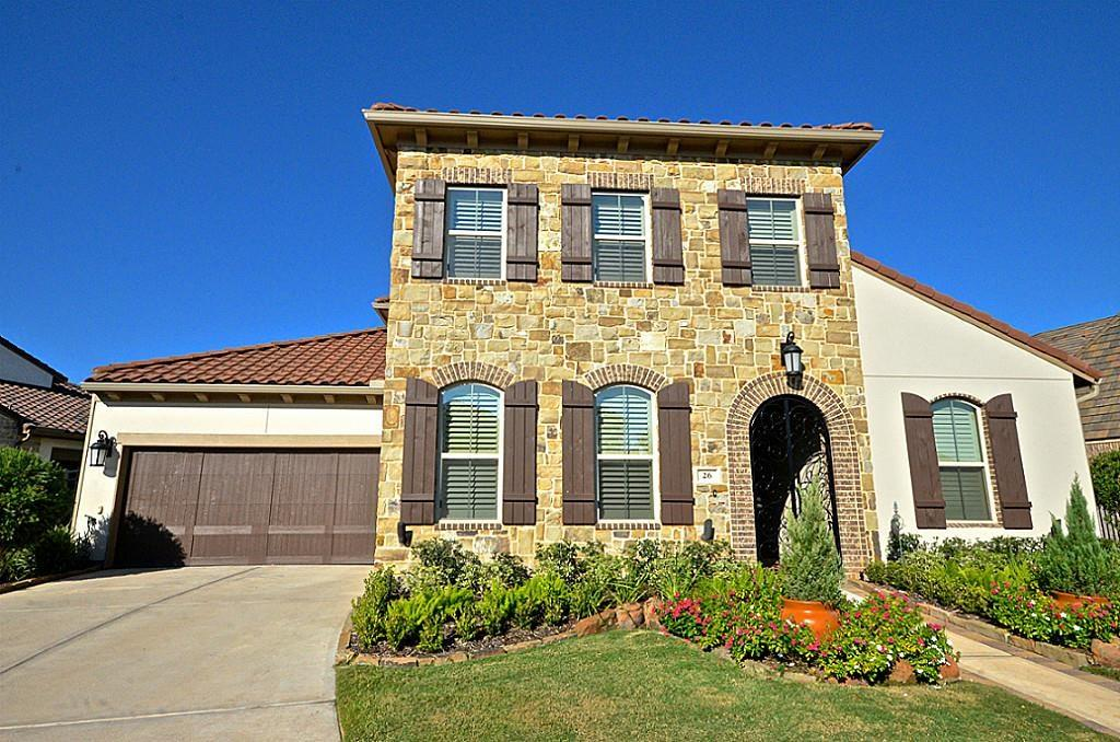 Breathtaking Darling Home in gated community @ Imperial Sugar Land. Beautiful wrought iron gates welcome you into this Mediterranean stone courtyard, with private guest quarters. As you enter this home, hard wood floors enhance the entry and main areas. Gorgeous high ceilings in Formal Dining and Den adds light to the home. The kitchen opens into Den and breakfast room, adding an open concept that's great for entertaining. Each bedroom boasts of walk in closets and en suite bathrooms. Media room is the perfect place for movie night! Game room is equipped with dry bar, built in wine cooler. Large covered patio with fireplace... This home has it all!
