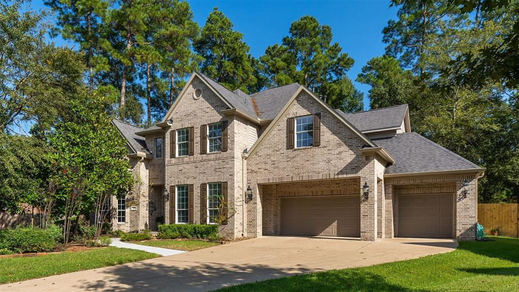 "Gorgeous Village Builder ""Bellagio"" floor plan located in sought after ""Nocturne Woods"". This lovely home sits on a private ""cul de sac"" and over sized 23,000 + square foot lot. Large entry way with high ceilings invites you into this beautiful home. New hardwood floors throughout the first floor, formal dining, wine grotto w/iron gate, paneled study with built ins, large family room, w/fireplace, gourmet kitchen with large island and separate eating area. Good size utility room off kitchen area and next to second staircase. Luxurious master bedroom and master bathroom. Screened in back porch for those great evenings overlooking the amazing private backyard oasis and pool/spa. Four very spacious bedrooms and new carpeting await you on the second floor. Media room off large game room for those fun times with family and friends. Over sized 3 car garage with separate storage room/workshop. So many updates include hardwood floors, carpet, paint, light fixtures, and much more.  A must see!"