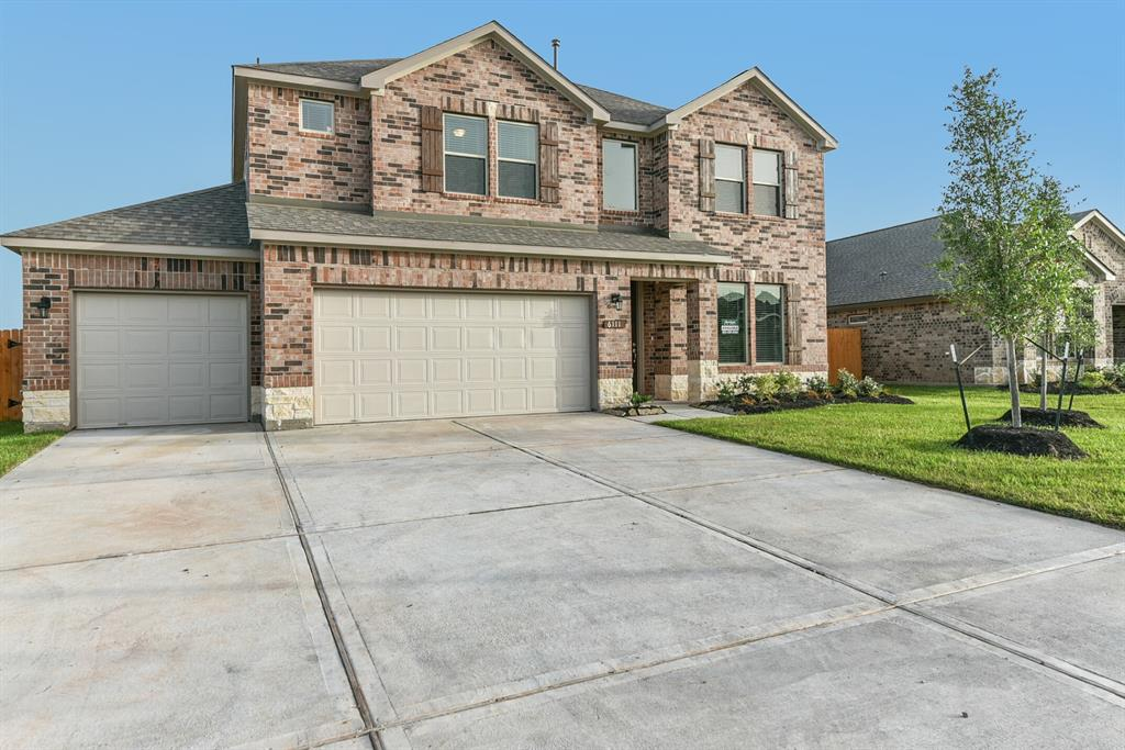 Beautiful two-story home for sale in Rosenberg TX with an island kitchen, separate breakfast and dining areas, 2nd bedroom 1st level, and corner family room. Upstairs spacious bedrooms and huge game room. This 5 bedrooms 4 bathroom Saratoga home offers spacious, open designs with vaulted ceilings. 2 bedrooms down with 3 bedrooms up. Ceramic tile flooring in entry, kitchen, utility room, and all bathrooms. Granite countertops with ceramic tile backsplash in the kitchen. Wood shelving in all closets and kitchen pantry. Double vanity in master bath and Separate tub and shower in master bath. Energy-saving right-sized HVAC equipment with airflow calculation. 12 lakes and 39 parks in the community. No backyard neighbors! Clubhouse with swimming pool fully equipped gym, banquet and meeting room facilities. Served by the Lamar ISD, next to a new campus. Kingdom Heights in Rosenberg, TX is only minutes from Sugar Land and Houston.