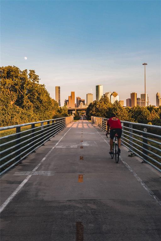 Hike and Bike Trail with a look at downtown.