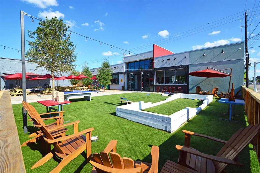 Hang out on the large patio at nearby FM Kitchen.