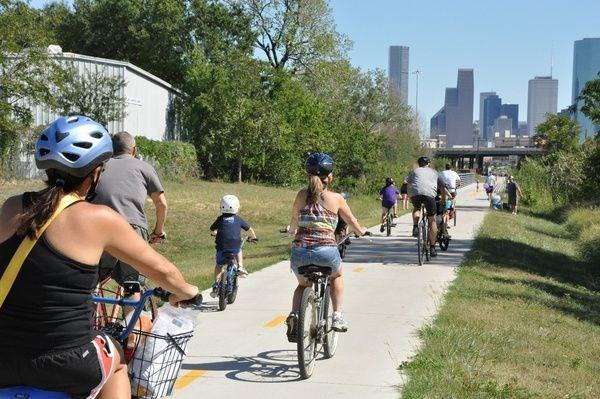 The Hike and Bike trail is a short bike ride away.