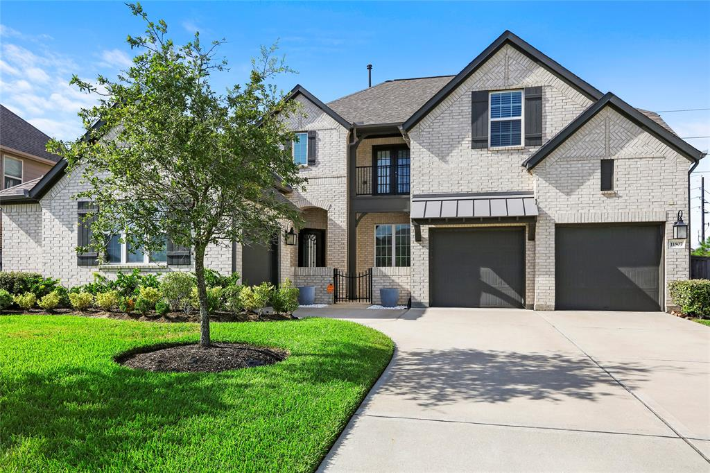 "Breathtaking Ashton Woods home nestled in the highly sought after neighborhood of Southern Trails! Stand out from the entire community with your custom elevation and stunning 8 foot Buffalo Forge steel door. Enter a stunning floor plan, where just past the foyer you'll be in the formal dining room with LED Cove lighting/crown molding that will enhance your dining experience. The open concept kitchen calls for entertainment! Upgrades in the kitchen include 42"" cabinets with display lighting, 36"" stainless steel commercial grade gas stove, Silestone countertops, marble backsplash, butler's pantry, and an oversized island. The living room and master bedroom feature exposed beams and wainscoting, adding timeless character to custom finishes. An alluring saltwater pool will help you beat the Texas heat. Plus an oversized concrete deck large enough to shoot hoops! Maintaining a healthy lawn will be effortless with the in-ground sprinkler system. In-laws get their own suite too!"