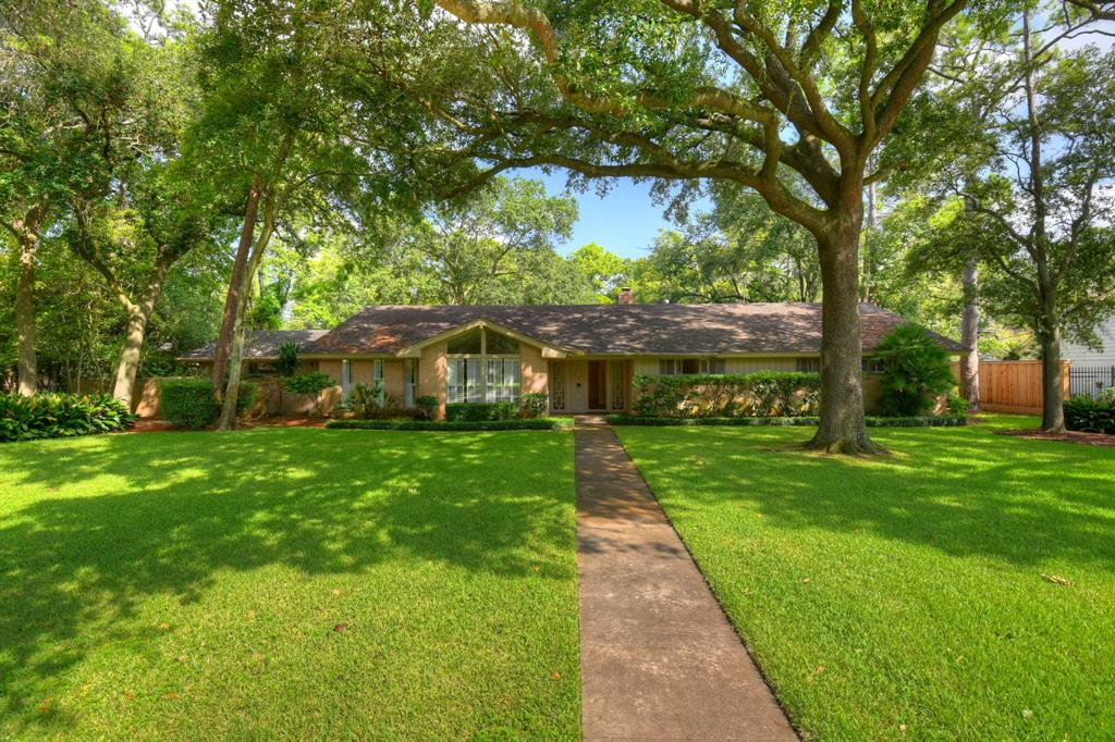 Great location within walking distance of Spring Branch Middle School, and Memorial High School.  One-story, 4 BR's-2.5 baths, pool, 19,048 sq. ft. lot, great floorplan ready for remodel or new build.