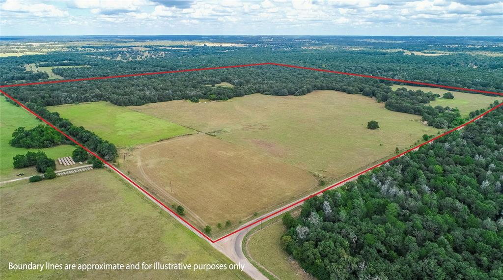 +/- 163.6 Acres of beautiful, secluded country property located in Old Dime Box, Lee county.Approx. 50% open, improved pasture and 50% wooded. 7-acre hay pasture fenced out- located toward the southwestern side of the property. Some cross-fencing, and mostly all perimeter fenced. Roughly 2,500-ft of paved County Road Frontage.