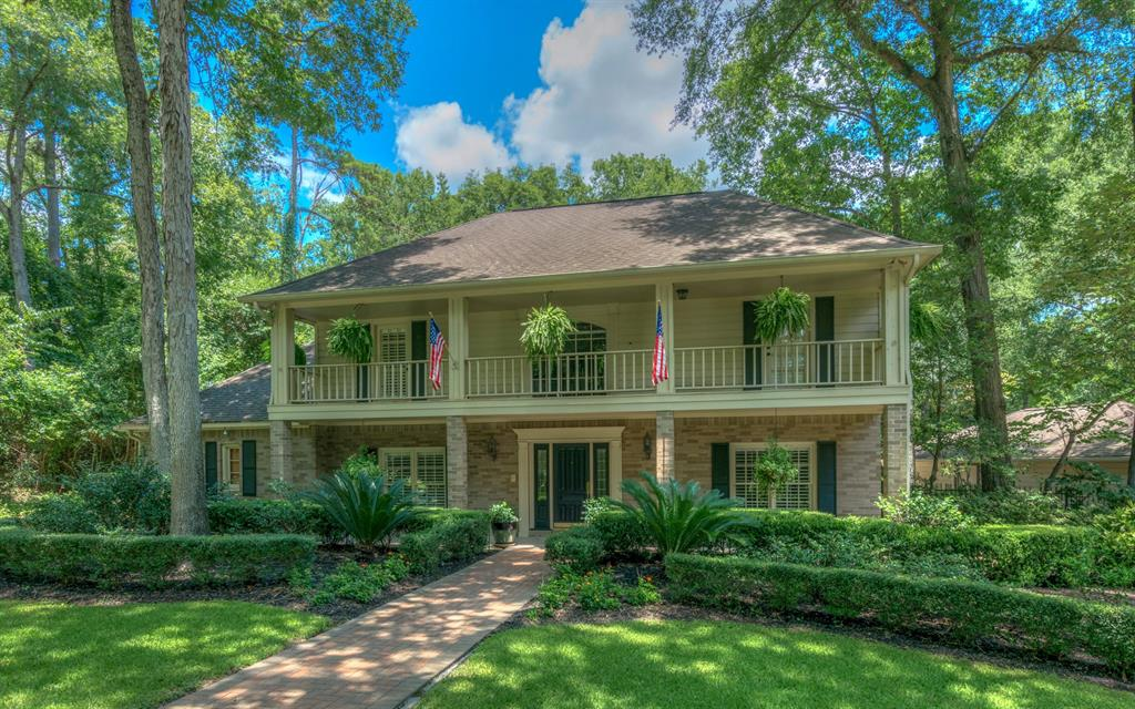 Don't miss the opportunity to own this rare find. Estate home boast five, fully landscaped, park-like acres, with secluded walking paths, several outdoor sitting areas,bulk-headed creek with water features, large back yard oasis with pool and hot tub. Home offers up and downstairs balconies that overlook both the front and the back yard. Stately interior offers four fire places, formal and informal living areas, upstairs and downstairs living spaces, country kitchen with attached dining area. Huge master suite provides cozy sitting area with fireplace and private back entrance, extra large bath with huge walk-in closet, walk-in shower with seat, and large jetted tub. Two first floor studies, one with large full bath attached are perfect for peacefully working at home. All upstairs bedrooms are large with bathroom access. Side yard has been cross fenced and leads to 30x40 workshop with large bay door entrance. This estate is a must see, please look at photos for more details.