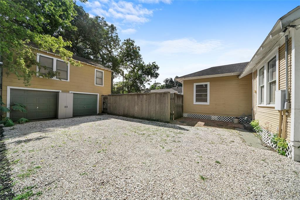 The spacious lot features a 2 car garage and plenty of room for parking.