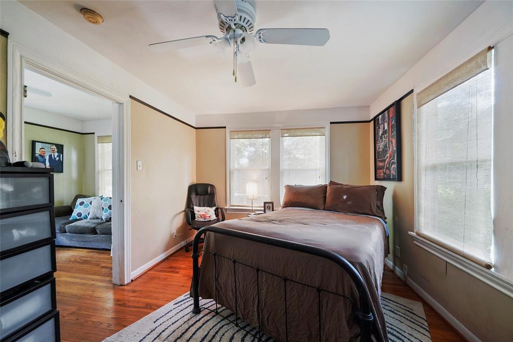 Bedroom in the garage apartment.