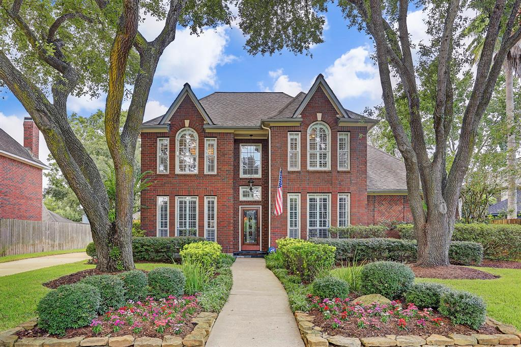 You won't want to miss this beautiful and impeccably maintained home in the sought after neighborhood of New Territory. MOVE IN READY! Updated kitchen open to the den, which looks out on the resort style pool/spa and covered patio. The lushly landscaped backyard is the perfect place for entertaining family & friends in a casual setting. With a master suite and study downstairs, and 3 bedrooms and a game room upstairs, this floor plan is ideal. There are too many updates &  upgrades to mention here, but among them are water heater in 2018, HVAC system in 2016, remodeled master bath with custom cabinets,  granite counter tops and  recent fixtures throughout, remodeled kitchen with custom cabinetry, stainless steel appliances, gorgeous granite island and counters, recent lighting fixtures throughout the home, not to mention the salt water heated pool, spa and gas fire pit. Words & photos can't do this home justice! You  just have to come see it! 1 block from highly rated Walker Sta. Elem