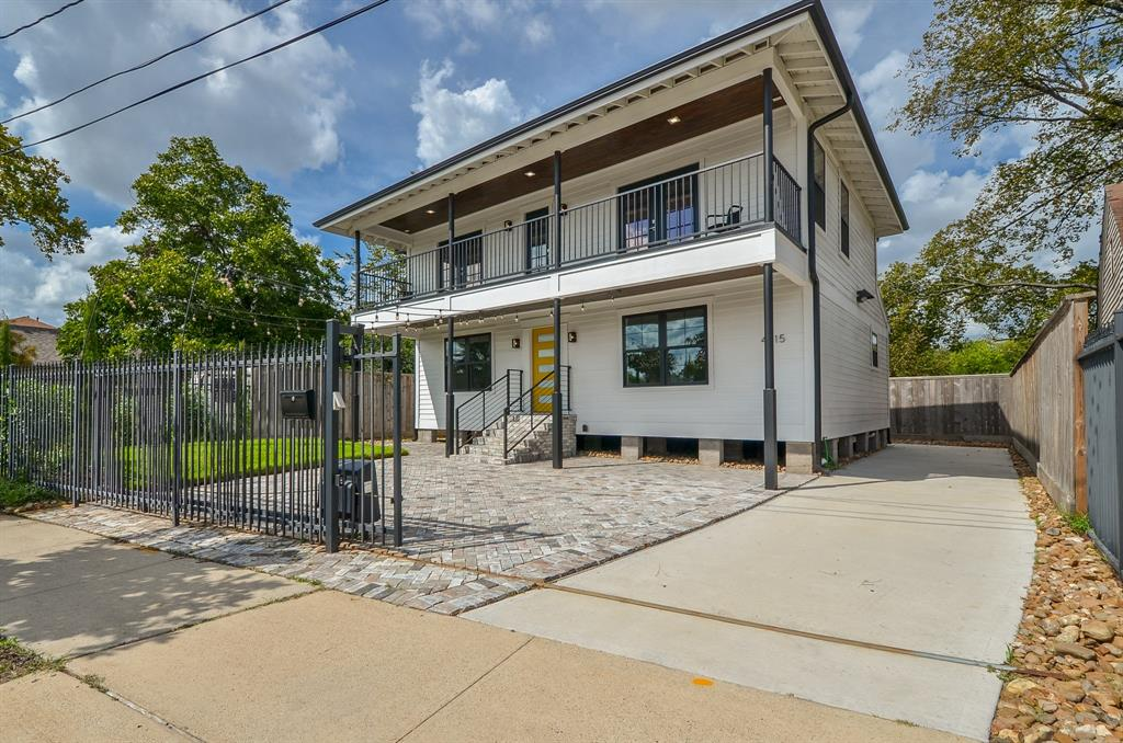 "Fully Remodeled One of a Kind Pier & Beam Home with Gated Access & 4 Car Parking. This 3 Bedrooms with 3.5 Bathrooms has NEW wiring, NEW Plumbing, NEW Tankless Water Heater, NEW Roof, NEW HVAC installed 2019 and 5"" Engineered Wood Flooring throughout. Kitchen includes all Stainless Steel Appliances, Walk-in Pantry, Soft Closing Drawers, Soft Closing Cabinets with Built in wine rack. The Cabinets throughout home are Solid Burch with Quartz Counters , Full Camera System with 4 Cameras. Powder Room on First Floor. One bedroom down with its own private bathroom and Walk-In Shower. Two bedrooms upstairs with their own private bathroom under cabinet lighting and Large Walk-In Closets and Balcony. Laundry room on 1st Floor with Built-in Cabinets & Electrolux Stackable Washer & Dryer, Ceiling Fans in every room, Pre- wired for Internet, 7' Foot Cedar Fence, NEW Anderson Windows throughout with Screens, Spray Foam Insulation on exterior walls and under home and Dusk to Dawn Exterior Lights."