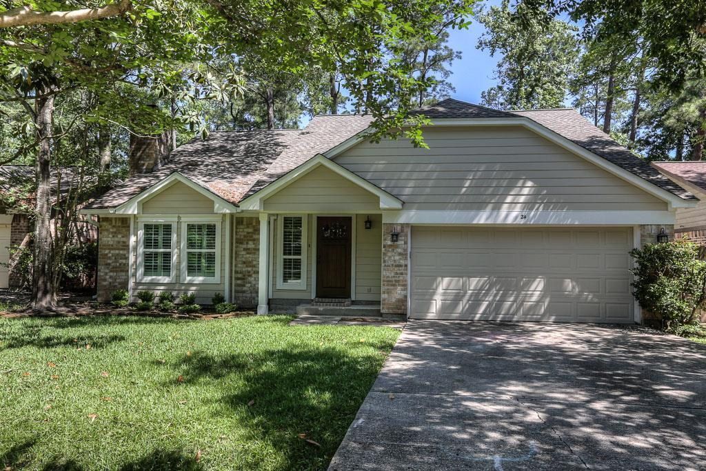 Gorgeous home in the heart of The Woodlands in Panther Creek.  Centrally located w/ easy access to I-45, parks, schools, shopping & dining. This remodeled home is very clean and has 3 bedrooms, 2.5 baths & 2 car garage. Large family room w/ wood look tile installed 06/2017 & updated kitchen. The master bedroom is down and large gameroom & two bedrooms up. You will not believe the HUGE covered patio - perfect for entertaining.  Backs to greenbelt for added privacy. You will not be disappointed!!