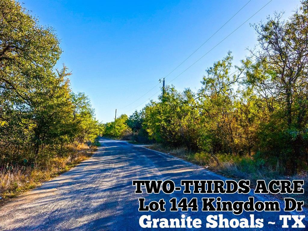 Lot 1144 Kingdom Drive, Granite Shoals, TX 78654