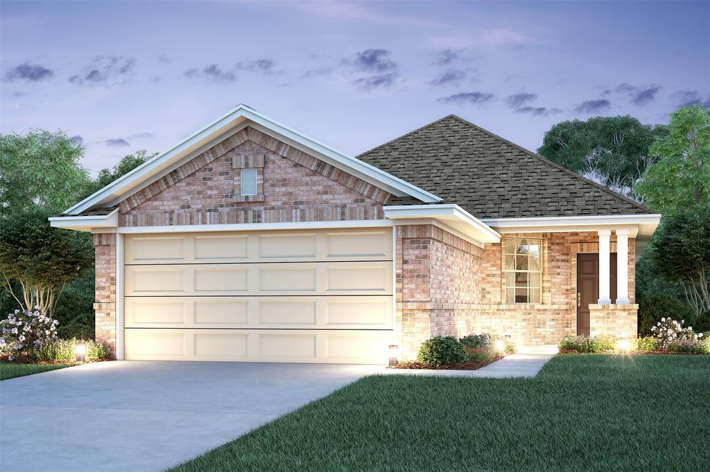 Beautiful one-story Jackie II home design features 3 bedrooms, 2 baths and 2 car garage. Maple cabinets in kitchen and all baths. Lovely kitchen has granite countertops and a pantry. Covered patio in backyard. Offered by: K. Hovnanian Houston Terra Del Sol, LLC.