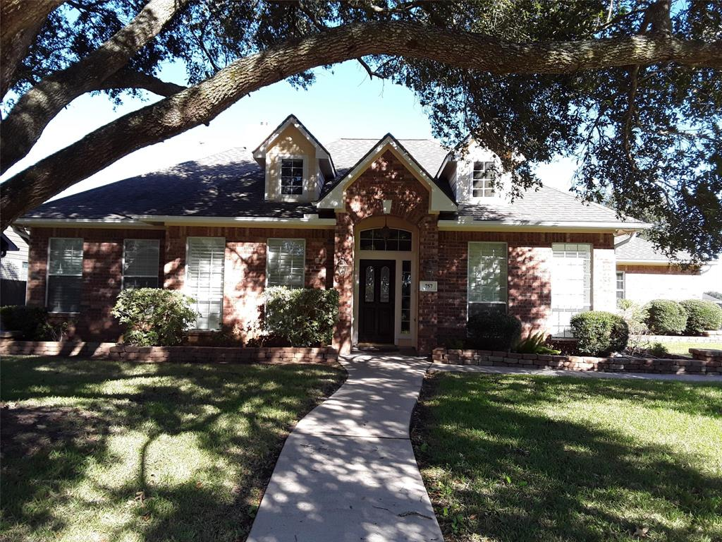 Lovely, 3 bedroom/2 bath custom home located on a beautiful tree-lined street in the heart of the East Bernard community.  Open family room with fireplace, high ceilings, and windows looking out on the extended patio. Spacious kitchen has large island, desk area and walk-in pantry. Study with built-ins could be game or media room.  Recent interior and exterior paint and carpet.  Walking distance to sought after East Bernard schools.  Home is move-in ready!