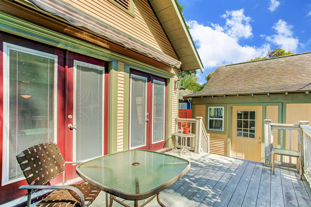 The back deck and yard are very private, and there is an automatic awning for shade over the deck when it's needed.