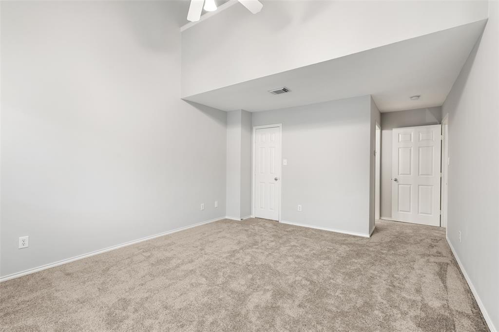 Large master closet provides a ton of space.