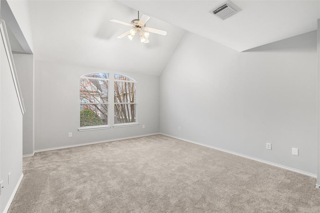 This loft space could make for a great work out room, study, or additional media room.