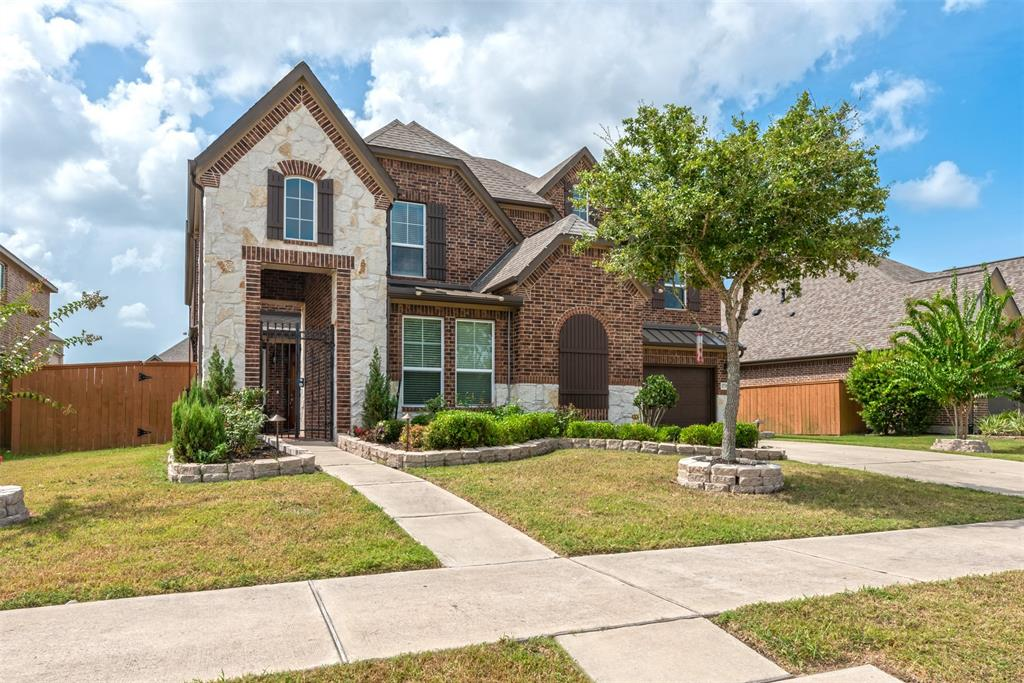 It's back on the market. Buyer could not get loan approved ~Vastu Compliant~ This gorgeous 5-BR, 3.5 bath luxury home is in the heart of the Aliana Master Plan Community.  The exterior has upgraded stone elevation and landscaping.  This spacious gem has over 4,000 sq. ft. with a beautiful greenbelt.  The iron gate at the front patio is aesthetically pleasing and adds security and privacy to an intimate courtyard. The first floor has a gourmet kitchen connecting to the family room, and the master suite has access to the extended concrete back patio.  Upstairs you'll find a game room and a media room that are perfect for entertaining.  Also, the 3-car garage is equipped with Genie Wi-Fi garage door opener.  Other upgrades include custom closet cabinetry, a full gutter system for optimal drainage, and a backup built-in surge protector in the fuse box.  It's walking distance to the highly-rated Madden Elementary School.