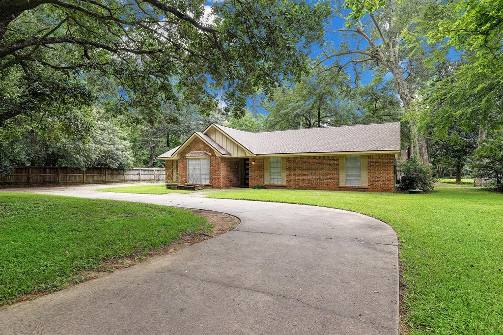 This lovely home is in the sought after Klein ISD school district. It's nestled in the woods with a huge back yard perfect for BBQing. Large family room space perfect for entertaining and an optional office space. Guest room quarters has it's own entrance. Lofted area upstairs makes the perfect workout or entertainment room. Get away from the loud city and enjoy this quiet peaceful street. Landlord is offering 12 months of free lawn  service. Minimum 2 year lease.