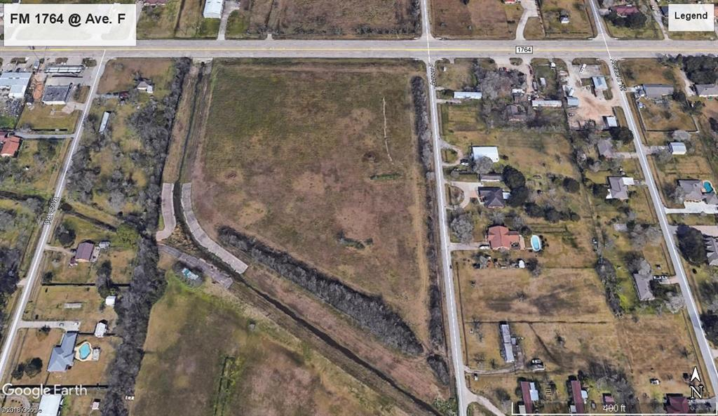 9.44 Acres of Cleared Land in Santa Fe School district ready for development or homesite. FM 1764 Frontage and Corners Avenue F. Between FM 646 and Interstate 45.