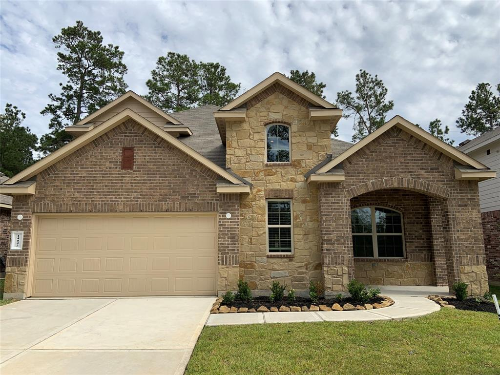 Beautiful NEW DR Horton home in Fosters Ridge zoned to The Woodlands schools!  This spacious two story has  Four bedrooms,  game room, useful study, modern finishes, open living spaces, stainless steel appliances by Frigidare, washer, dryer, refrigerator, covered back patio, sprinkler system, tankless water heater, and so much more! Fosters Ridge is in an excellent location! Hurry and call TODAY for your appointment!