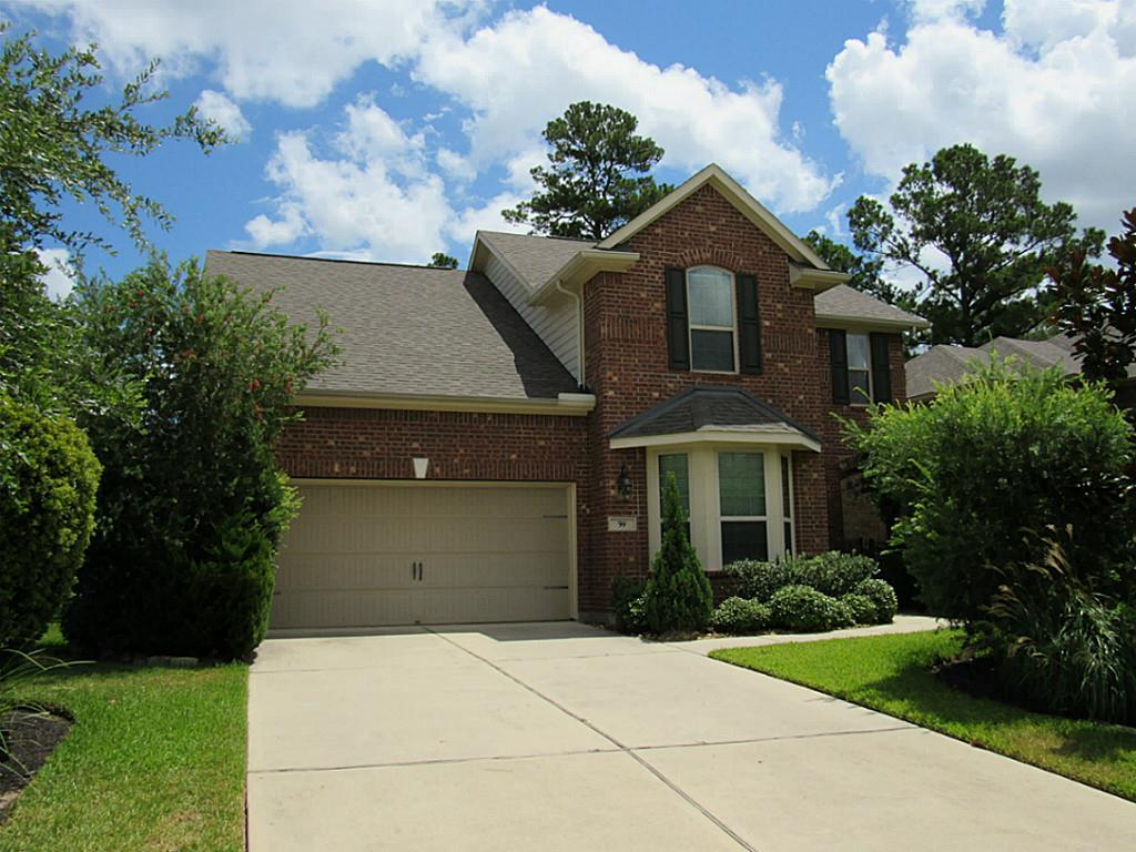 Desirable Village Builder's Juniper plan. Features upstairs game room plus study w/french doors. Gourmet kitchen with granite counters, maple cabinets and  SS appliances. Refrigerator, washer & dryer included. Close to the  Creekside Park Village Center.
