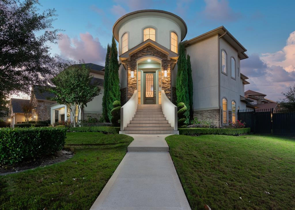Modern and stunning custom home in the heart of the Energy Corridor. Located in 24 hour guard-gated Royal Oaks Country Club. The property was meticulously built in 2014 with quality finishes. Well-designed to maximize the view from the balcony to the impressive golf course. Elegant/Tuscany style 2 story entry, majestic foyer with tons of natural light, chef's dream kitchen full of cabinets with stainless steel appliances opens to living room with fireplace, spacious four bedrooms with 3.5 bathrooms and study. Laundry room like no other. Enchanting patio with heated pool and spa, overlooks the massive backyard. Perfect for entertaining and joy for family and friends.  This home boasts sophistication, elegance, and true craftsmanship. A tasteful design cover every square inch of this impressive & heart-felt home! Luxury with high standards of comfort.