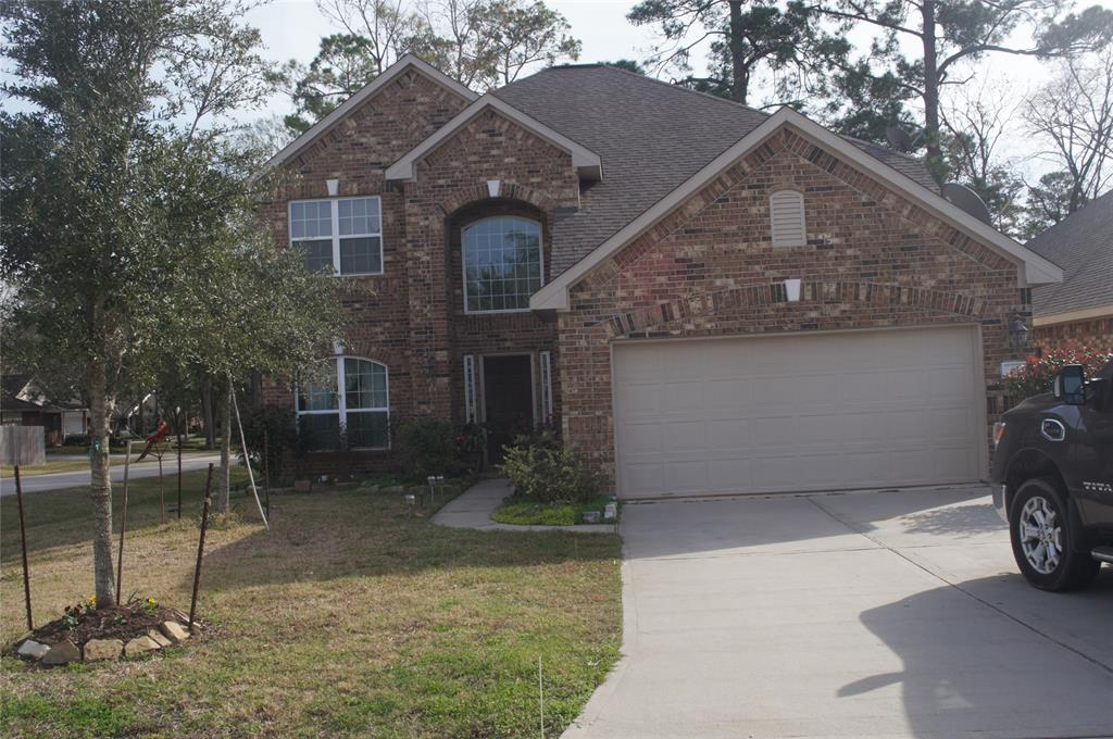 Did not flood during Harvey or Imelda. Close proximity to I45 and shopping centers. Master bedroom is down and the Master Bath has alarge garden tub with separate shower.  Large gamewroom is upstairs with a separate sitting area adjacent to it. Back yard is fenced and has a large deck for sitting and watching the day begin or for evening cookouts.  Home includes Refrigerator, washer and dryer. Schedule your showing today.