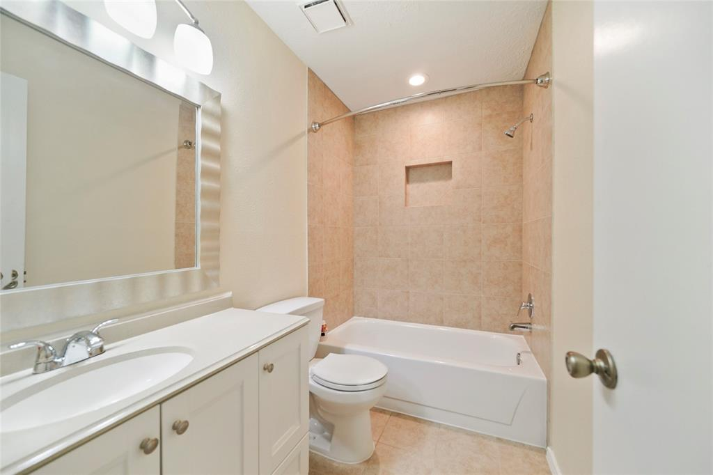 Master suite has large vanity space with Shower tub.