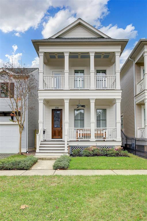This stately home sits just a few minutes walking distance to the 19th St. shopping and dining hub of the Historic Heights.  It has been gently lived in by one set of buyers since being purchased from the builder in late 2017.